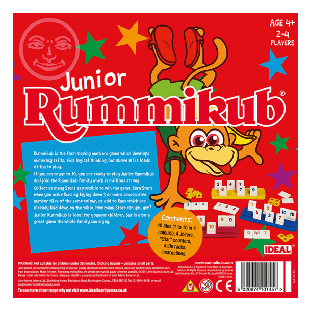 Junior Rummikub Back of Box