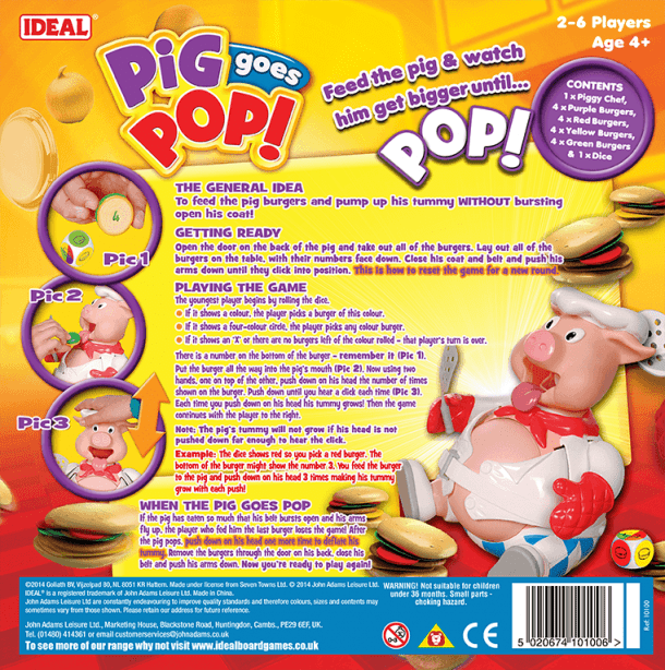 Pig Goes Pop Back of Box