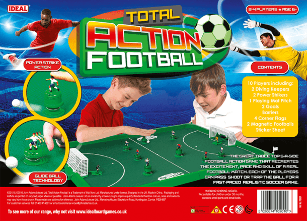 Total Action Football Back of Box