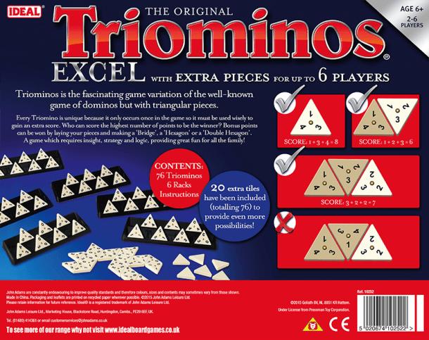 Triominos Delux Back of Box