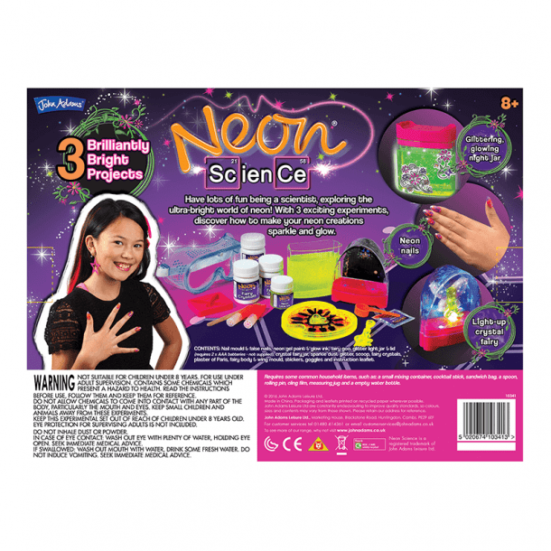 Neon Science Back of Box