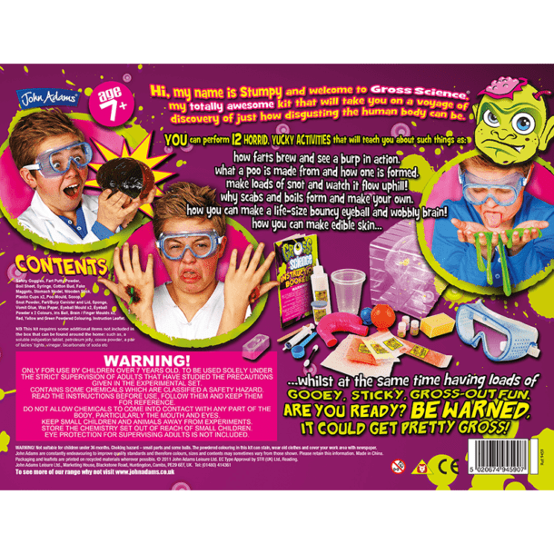 Gross Science Back of Box