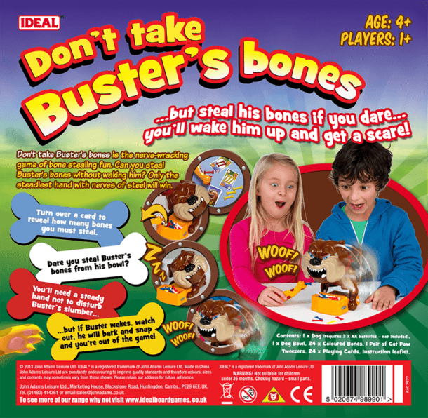 Busters' Bones Back of Box