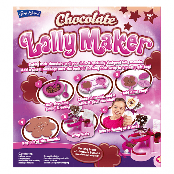 Chocolate Lolly Maker Back of Box