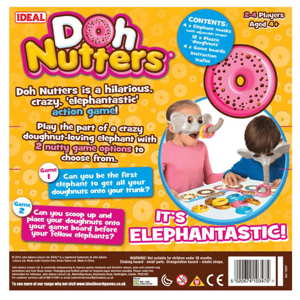 Doh Nutters Back of Box