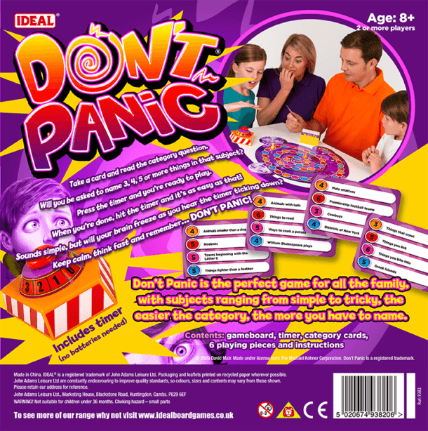 Don't Panic Back of Box