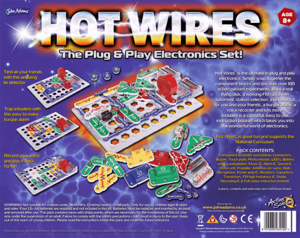 Hot Wires Back of Box