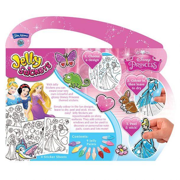 Disney Princess Jelly Stickers Back of Box