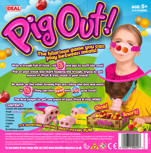 Pig Out Back of Box