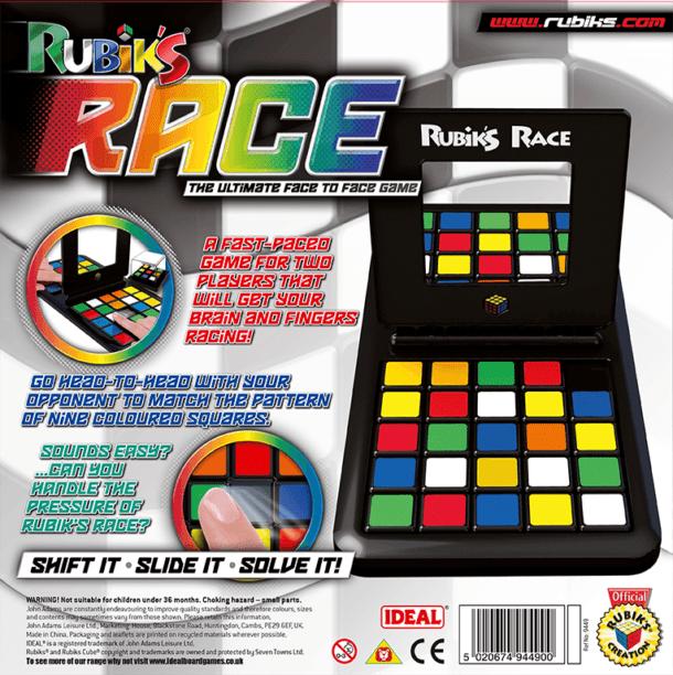 Rubik's Race Back of Box
