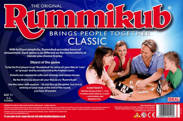 Rummikub Back of Box