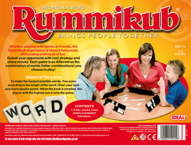 Rummikub Word Back of Box
