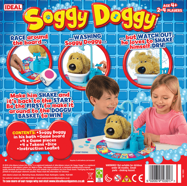 Soggy Doggy Back of Box