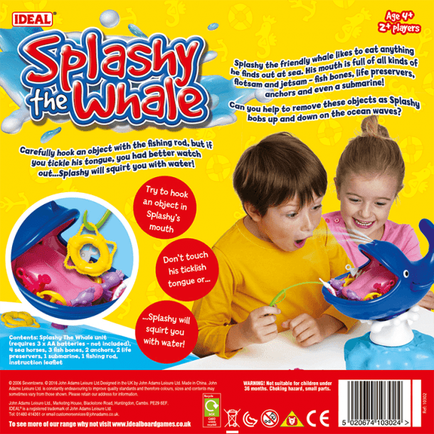 Splashy The Whale Back of Box