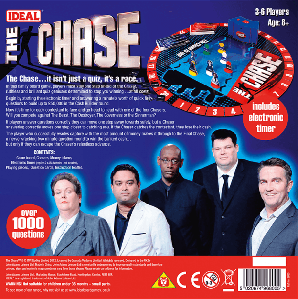 The Chase Back of Box