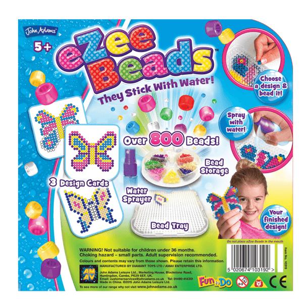 eZee Beads Butterflies Back of Box
