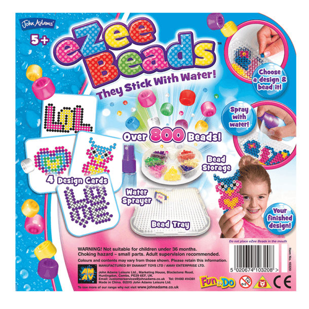 eZee Beads Charms Back of Box