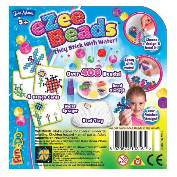 eZee Beads Garden Bugs and Flowers Back of Box
