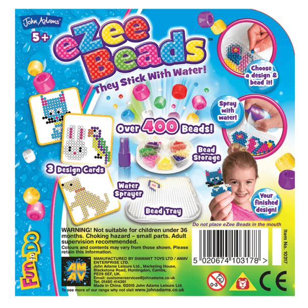 eZee Beads Pets Back of Box