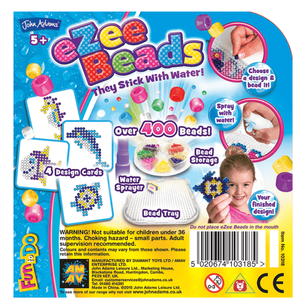 eZee Beads Under The Sea Back of Box