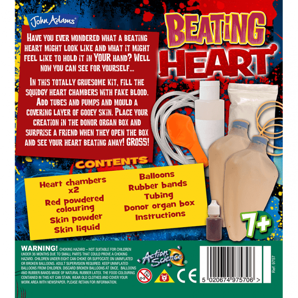Beating Heart Back of Box